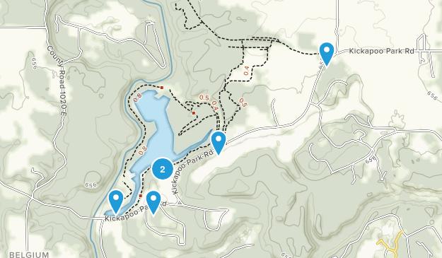 Oakwood, Illinois Forest Map