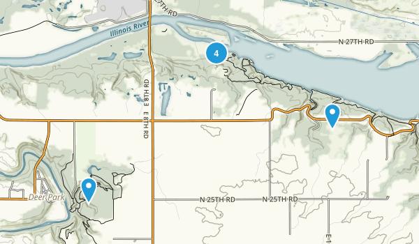 Oglesby, Illinois Hiking Map