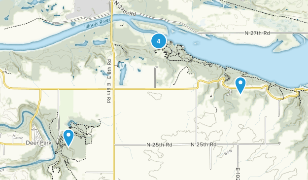 Oglesby, Illinois Hiking Map