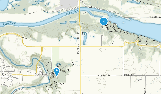 Oglesby, Illinois River Map