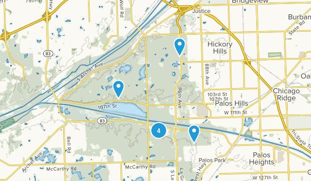 Palos, Illinois Nature Trips Map