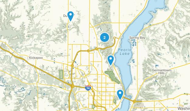 Peoria, Illinois Trail Running Map