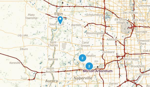 Wheaton, Illinois Walking Map