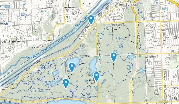 Willow Springs, Illinois Views Map