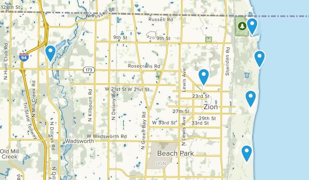 Zion, Illinois Birding Map