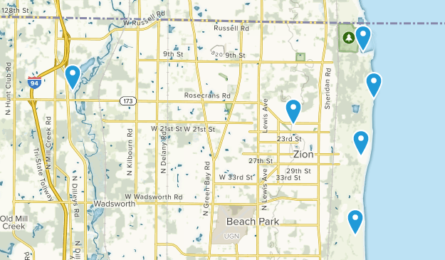 Zion, Illinois Kid Friendly Map