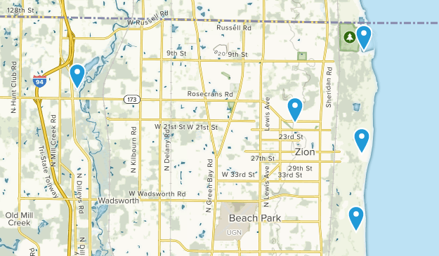 Zion, Illinois Views Map