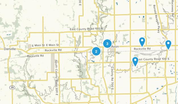 Avon, Indiana Walking Map