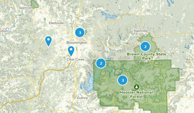 Bloomington, Indiana Bird Watching Map