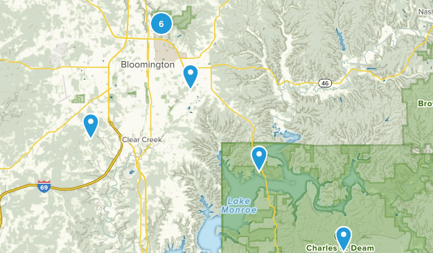 Bloomington, Indiana Forest Map