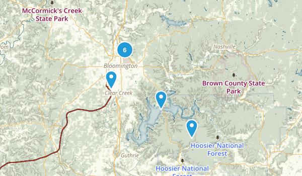 Bloomington, Indiana Hiking Map