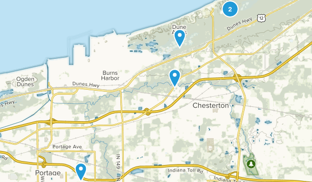 Chesterton, Indiana Forest Map