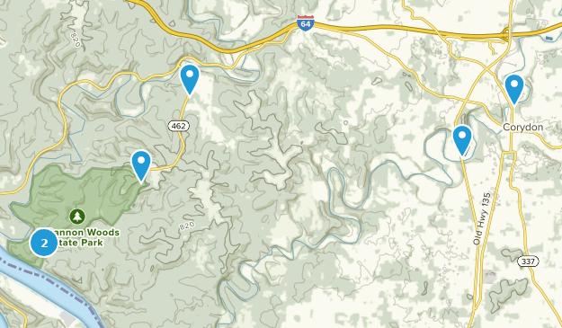 Corydon, Indiana Hiking Map