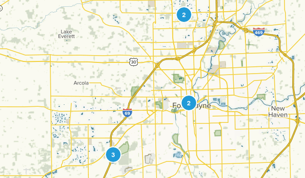 Fort Wayne, Indiana Kid Friendly Map
