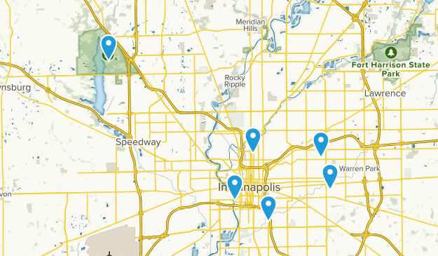 Indianapolis, Indiana Wheelchair Friendly Map