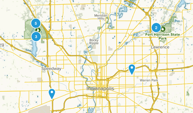 Indianapolis, Indiana Lake Map