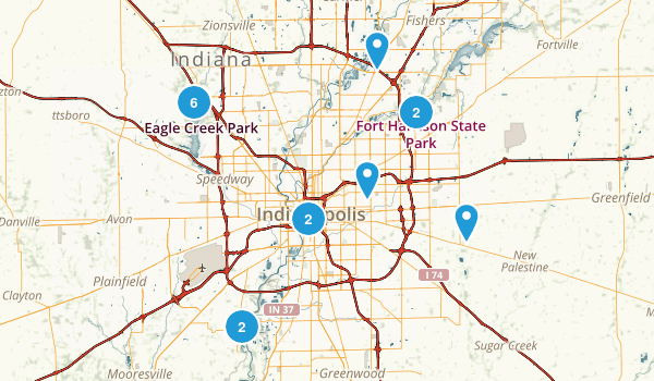 Indianapolis, Indiana Nature Trips Map