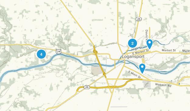 Logansport, Indiana Walking Map