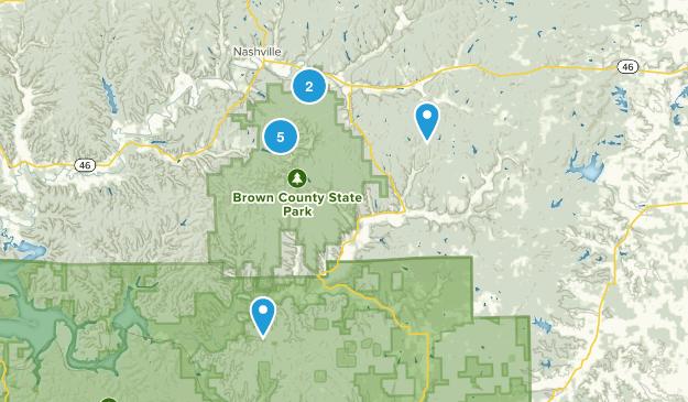 Nashville, Indiana Mountain Biking Map