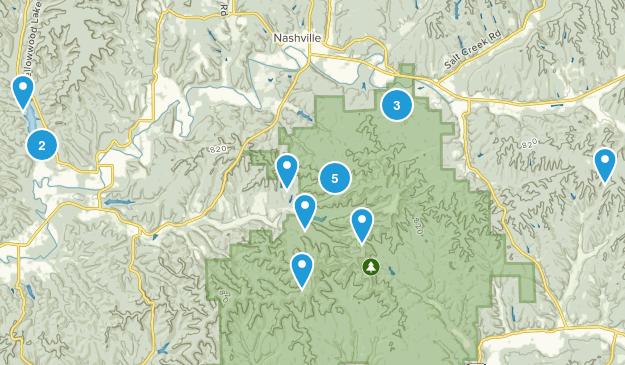 Nashville, Indiana Nature Trips Map