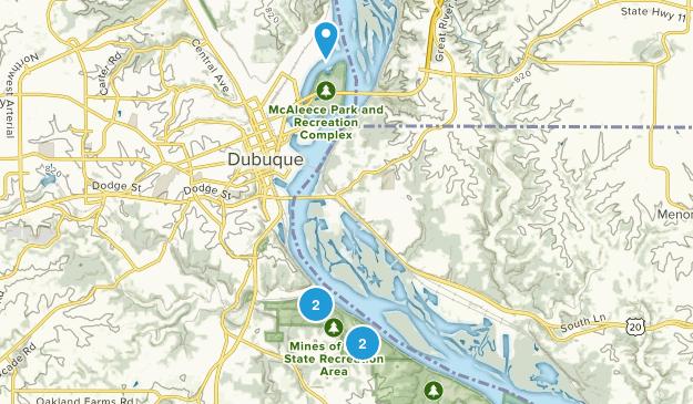 Dubuque, Iowa Trail Running Map