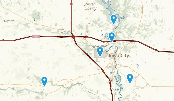 Iowa City, Iowa Forest Map