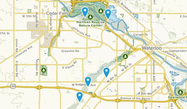 Waterloo, Iowa Birding Map