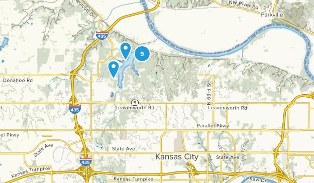 Kansas City, Kansas Dogs On Leash Map