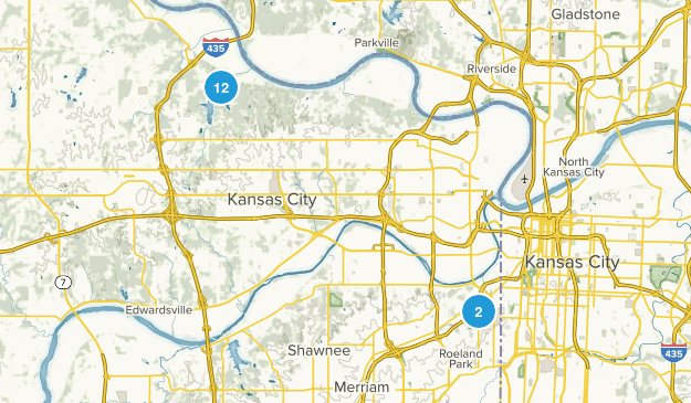 Kansas City, Kansas Hiking Map