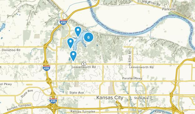 Kansas City, Kansas Lake Map