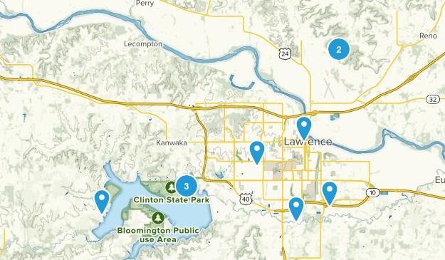 Lawrence, Kansas Birding Map