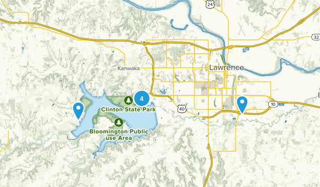 Lawrence, Kansas Lake Map