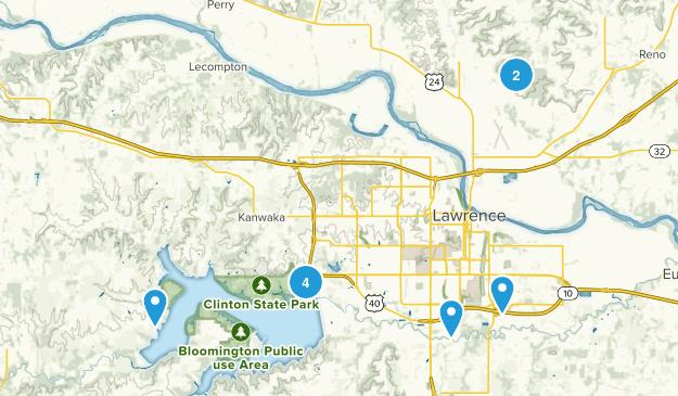 Lawrence, Kansas Views Map