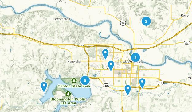 Lawrence, Kansas Walking Map