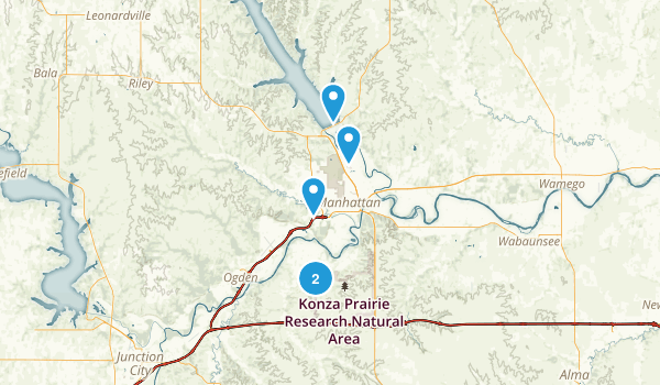 Manhattan, Kansas Nature Trips Map