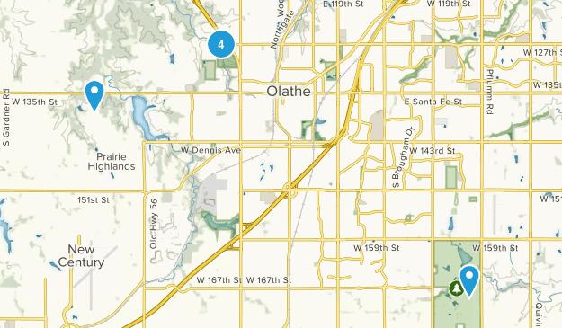 Olathe, Kansas Forest Map
