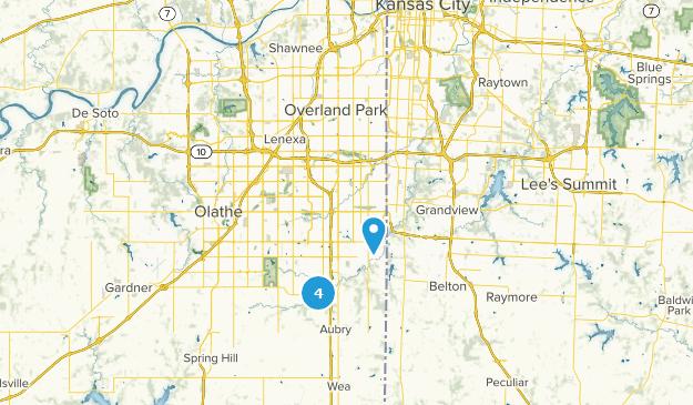 Overland Park, Kansas Bird Watching Map