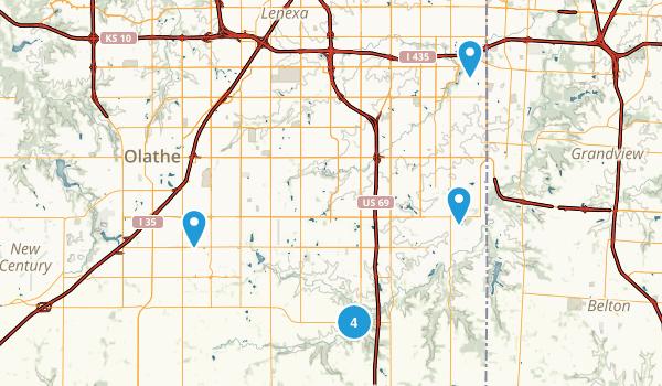 Overland Park, Kansas Walking Map
