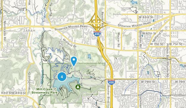 Shawnee, Kansas Forest Map