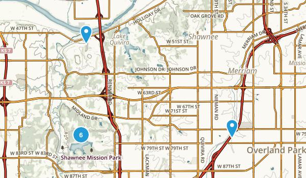 Shawnee, Kansas Hiking Map