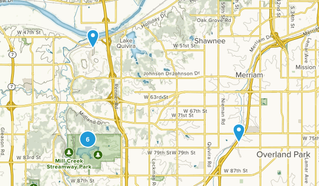 Shawnee, Kansas Walking Map