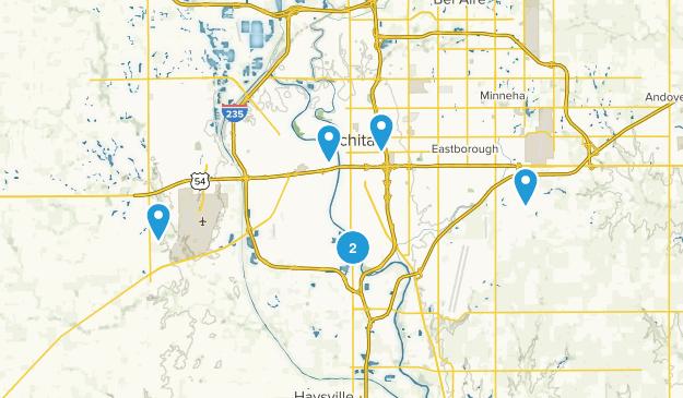 Wichita, Kansas Dogs On Leash Map