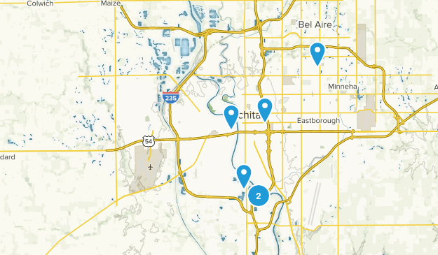 Wichita, Kansas Trail Running Map