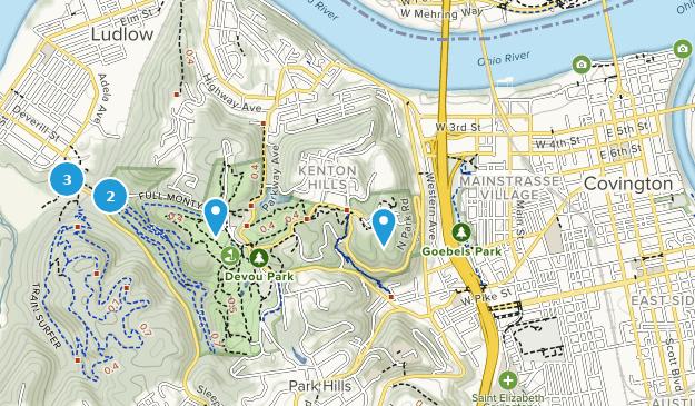 Covington, Kentucky Hiking Map