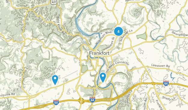Frankfort, Kentucky Nature Trips Map