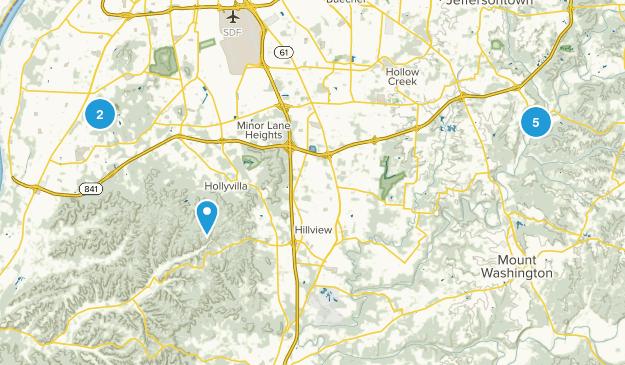 Louisville Metro, Kentucky Views Map
