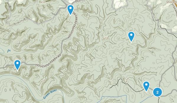Mammoth Cave, Kentucky Horseback Riding Map