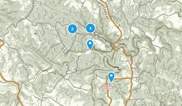 Olive Hill, Kentucky Hiking Map