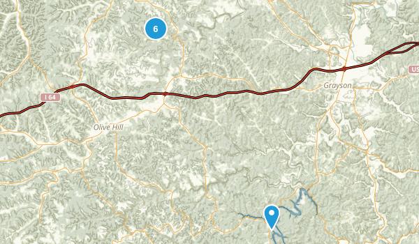 Olive Hill, Kentucky Kid Friendly Map