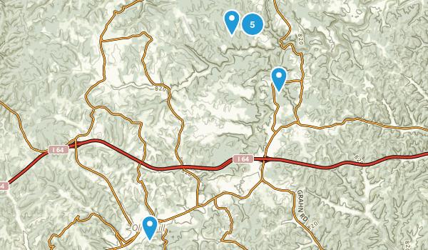 Olive Hill, Kentucky Walking Map